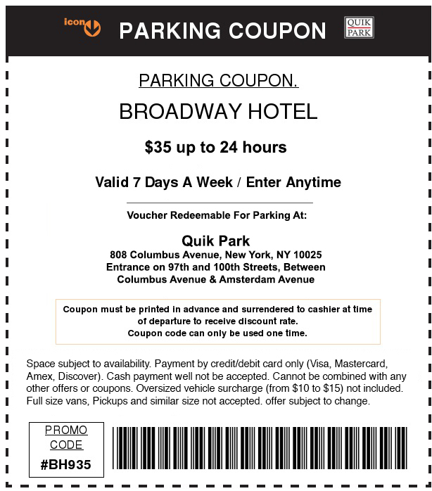 NYC Parking Garages with Coupon Programs